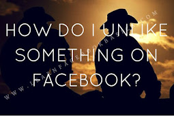 How do I unlike something on Facebook?