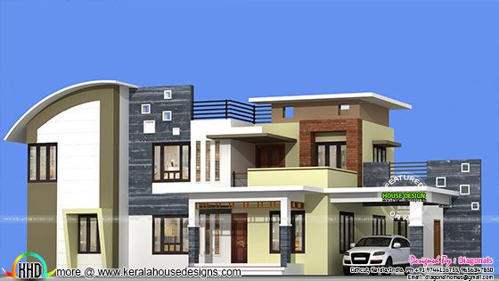Kerala Home Design And Floor Plans 2955 Sq Ft Modern