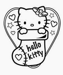 Christmas Hello Kitty Coloring Pages 5