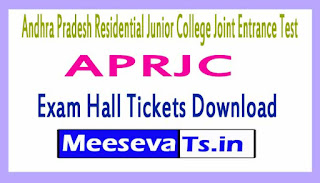 APRJC Exam Hall Tickets Download 2017