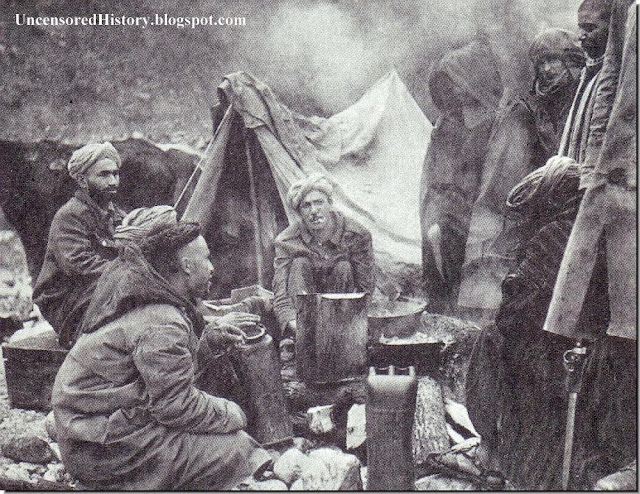 Moroccan soldiers camp Italy 1944