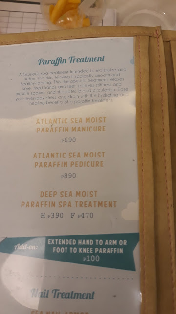 Nailaholics call this treatment is Atlantic Sea Moist Paraffin Manicure and Pedicure.