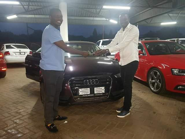 Photos: Wealthy Malawi pastor, Prophet Shepherd Bushiri surprises two members of his media team with brand new BMW X3