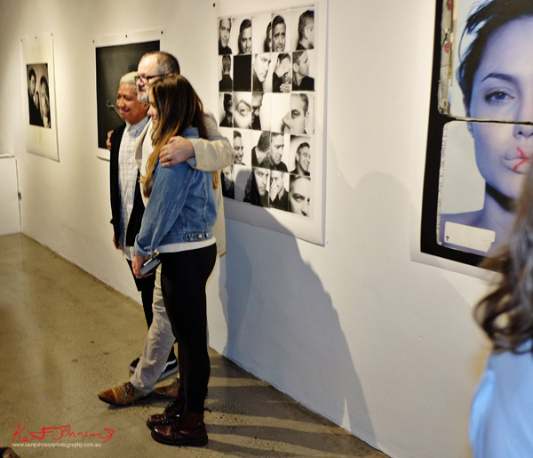Getting a portrait with Frank, Frank Ockenfels 3 at Black Eye Gallery. Photography by Kent Johnson for Street Fashion Sydney.