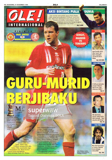 FA CUP 1998 MAN. UNITED VS MIDDLESBROUGH