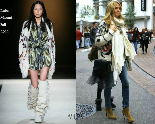 10f6cd8784 Heidi Klum In Isabel Marant - Out & About LA | My Little Fashion Blog