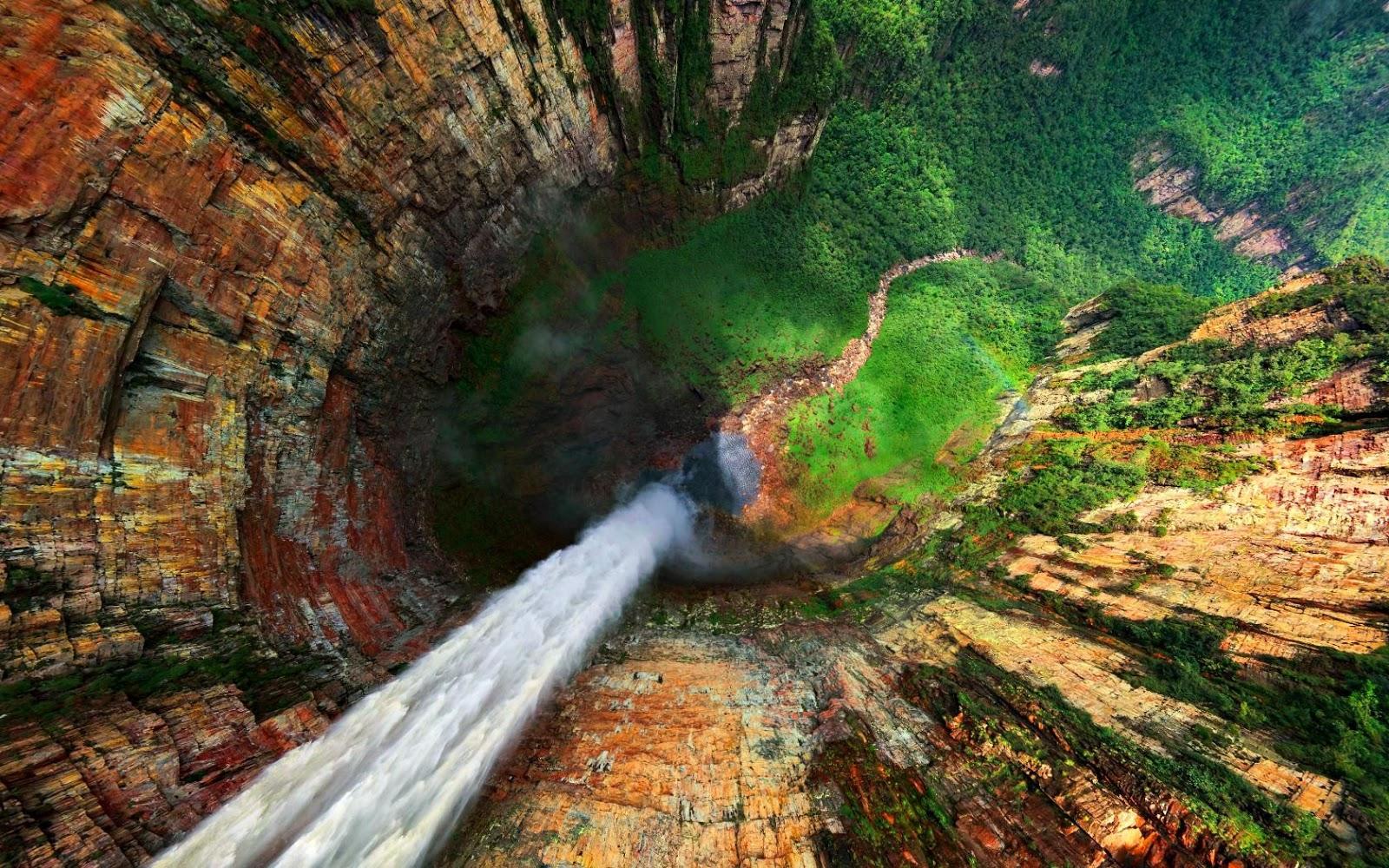 Beautiful Angel Fall Waterfall Wallpaper