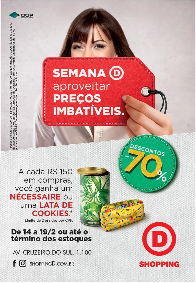 Shopping D promove megaliquidação, com descontos de até 70% aos consumidores