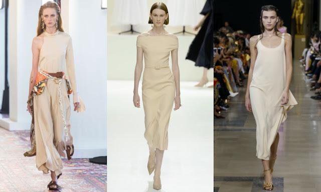 nude fashion trend Chloe, Christian Dior, Rochas