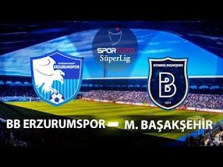 Medipol Başakşehir - BB ErzurumsporCanli Maç İzle 09 Şubat 2019