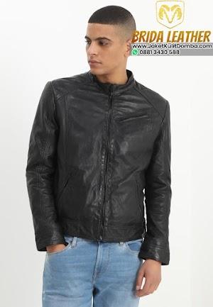 Harga Jaket Kulit Asli Domba Garut Super Hitam Pria Terbaru Brida Leather