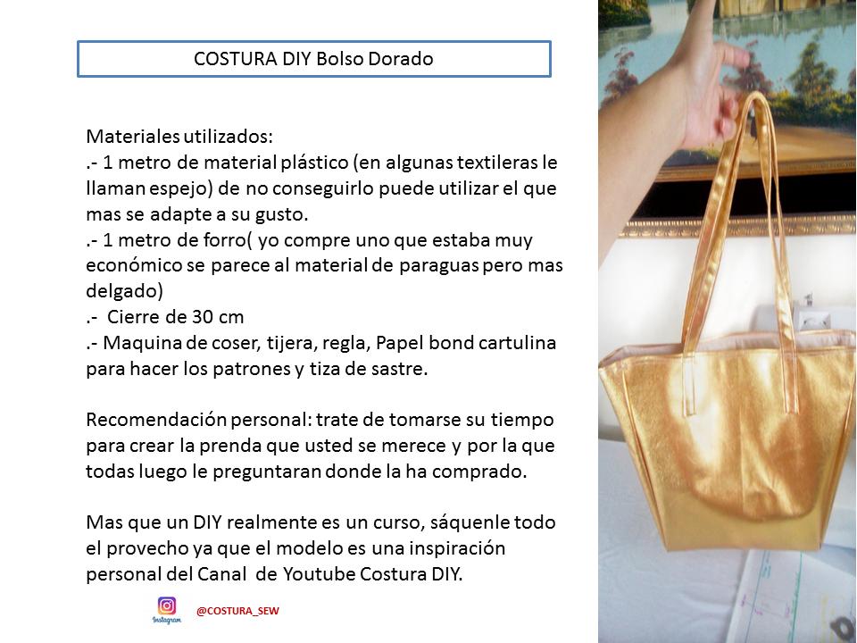 DIY BOLSO DORADO