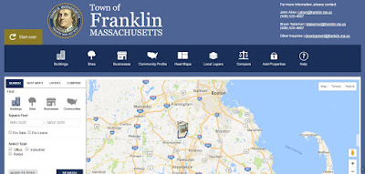 The Town of Franklin page focused on sharing business development info about the community