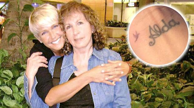 Xuxa e dona Alda Tatuagem homenagem