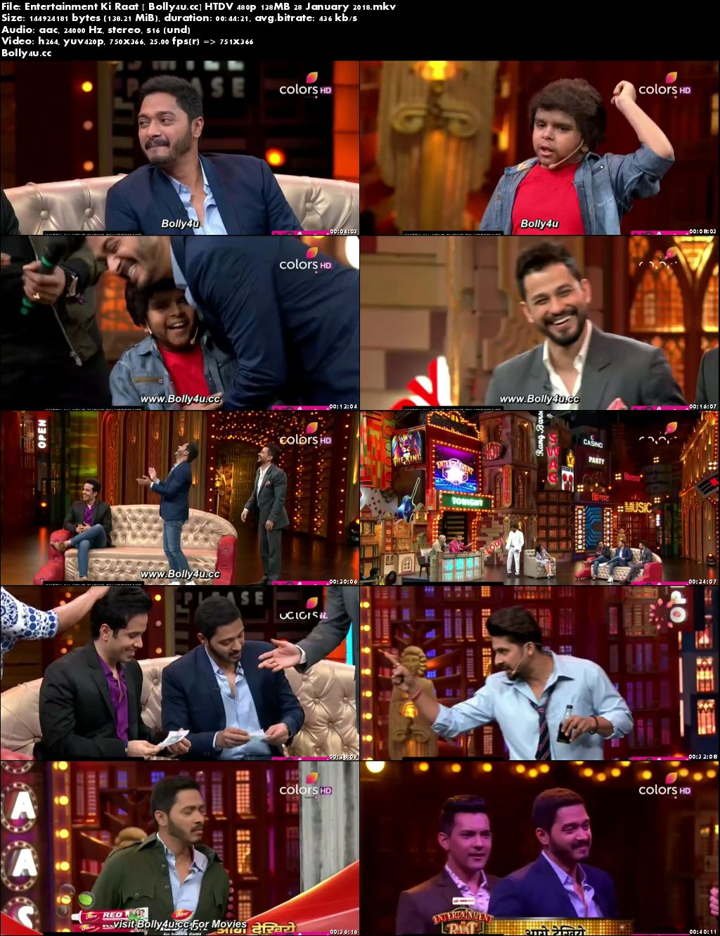 Entertainment Ki Raat HTDV 480p 140MB 28 January 2018 Download
