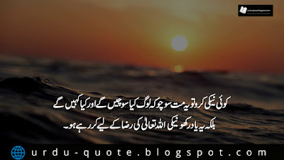 urdu quote of the day about neki