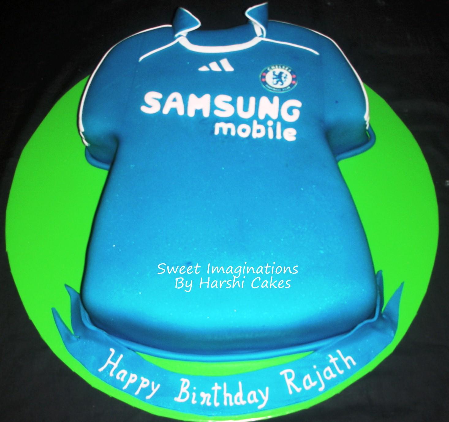 Harshi S Cakes Amp Bakes Chelsea T Shirt Cake