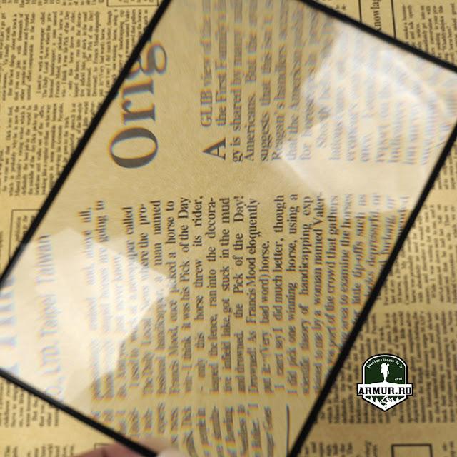 Lupa Card Flexibil   - pentru citit  - de aprins focul