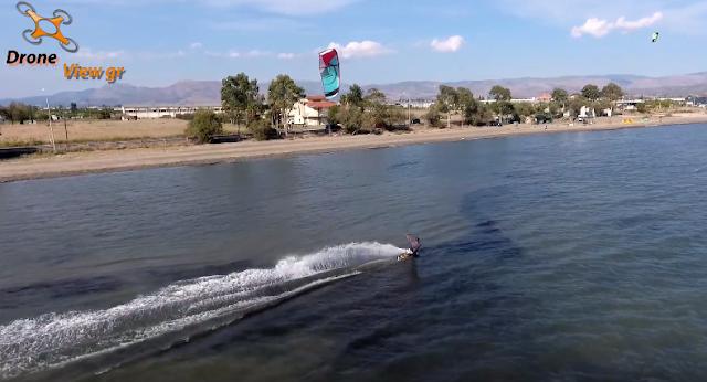 Εκπληκτικό video με Kite serf στην παραλία Δαλαμανάρας στην Αργολίδα