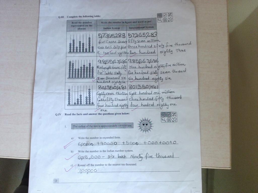 PIS VADODARA STD 5: grade 5 math workbook