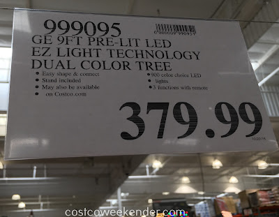 Costco 999095 - Deal for the GE 9ft Pre-lit LED Just Cut Aspen Fir Artificial Christmas Tree at Costco