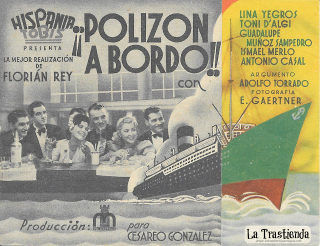Polizón a Bordo - Programa de Cine - Lina Yegros - Toni D'Algi - Guadalupe Muñoz Sampedro