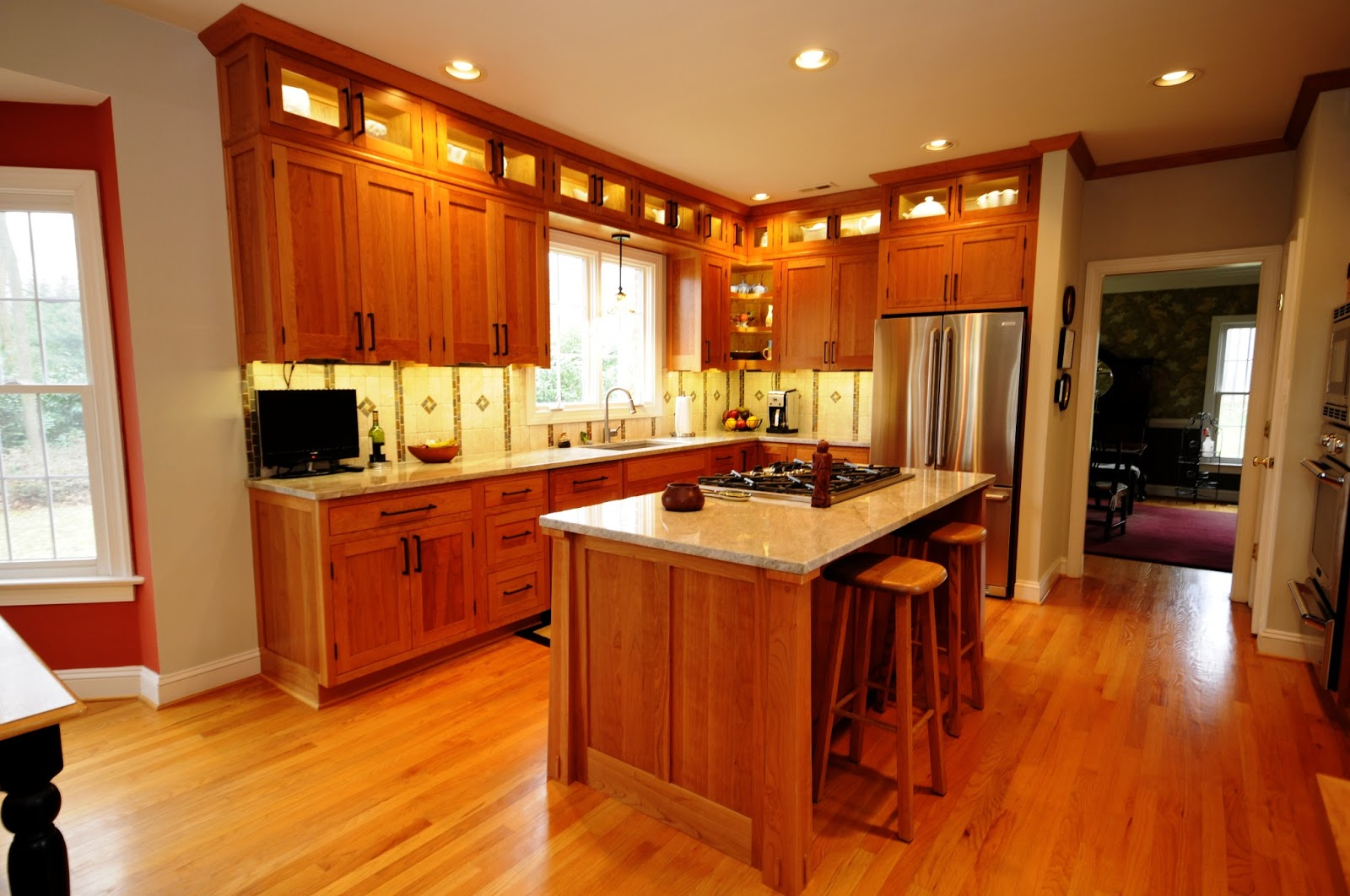 Cherry Hill Cabinetry Arts  Crafts Kitchen  A Cherry