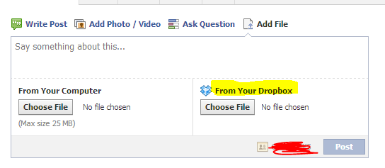 Screenshot of Dropbox file selection option: Intelligent computing