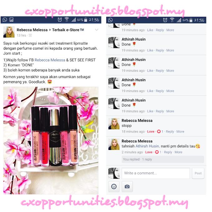 Rezeki Menang Contest Perfume & Therapy LipMatte