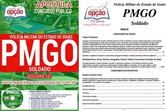 Apostila Concurso Público PM/GO - Polícia Militar-GO 2017