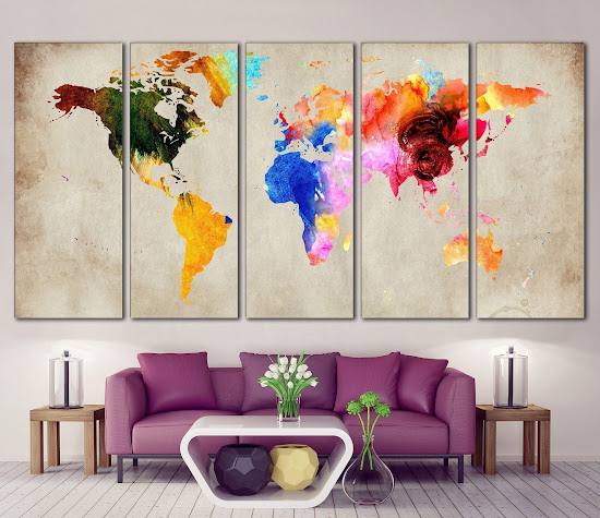 Mendekorasi dinding rumah secara artistik