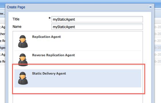 Adobe CQ/Adobe AEM: How to use static agent in CQ / WEM