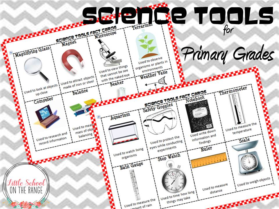 Science Tools {Vocabulary Cards and Anchor Chart Pack} for Young ...