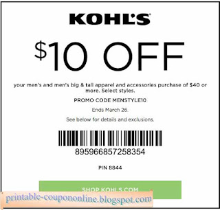 Kohls online coupons august 2018