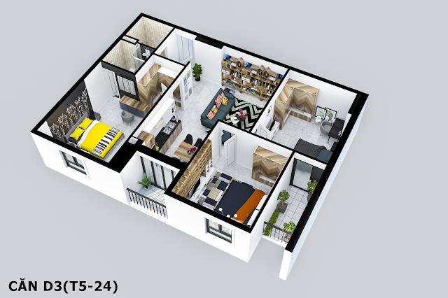 Thiết kế căn D3 Tabudec Plaza