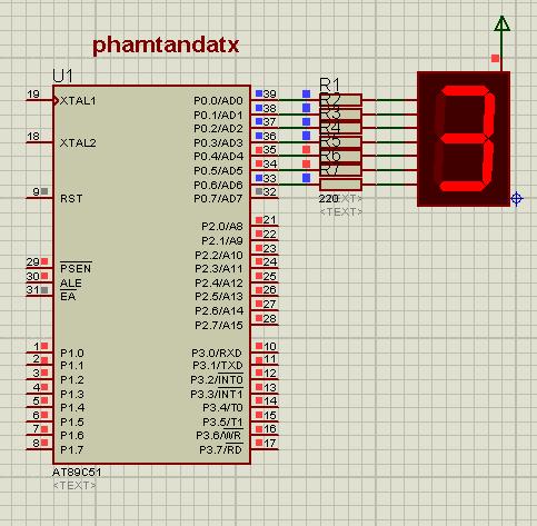 [8051 TUTORIAL] BÀI 13  Chương trình hiển thị LED 7 đoạn từ 0 đến 9