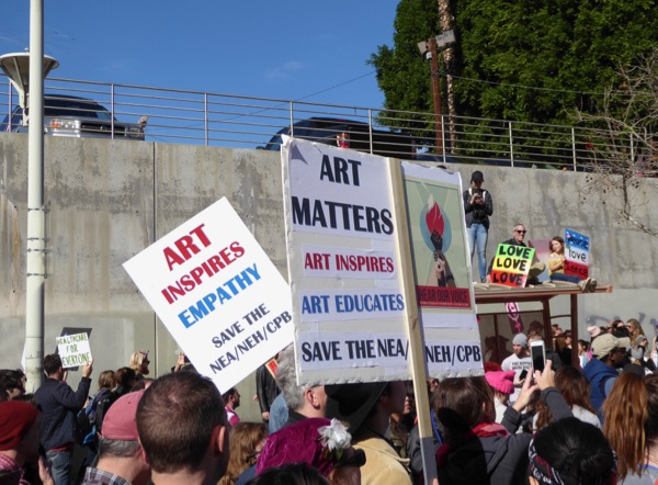 Womens March LA Art inspires matters signs