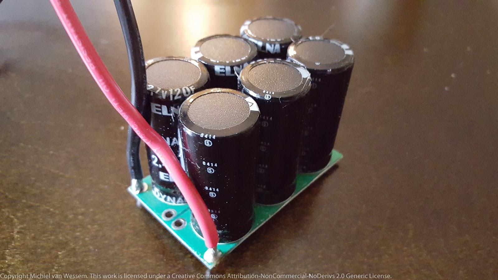 Puny Projects: 20 Farad, 16 2 volt supercapacitor bank