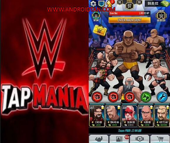 WWE Tap Mania Mod Apk for Android