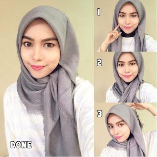 Hijab Pashmina Kaos Polos Simple