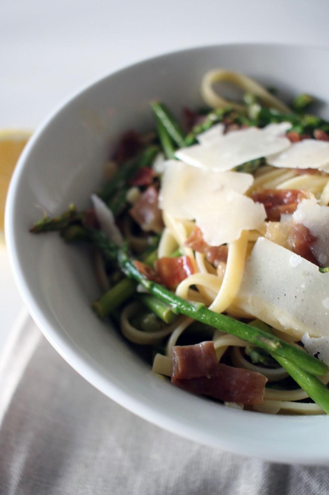 Spring Asparagus & Prosciutto Pasta