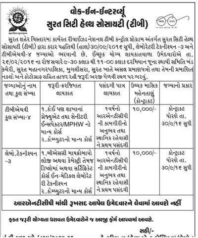 Surat-City-Health-Society-(TB)-Recruitment-2016