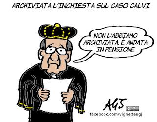 calvi, misteri italiani, magistratura, giustizia, satira, vignetta