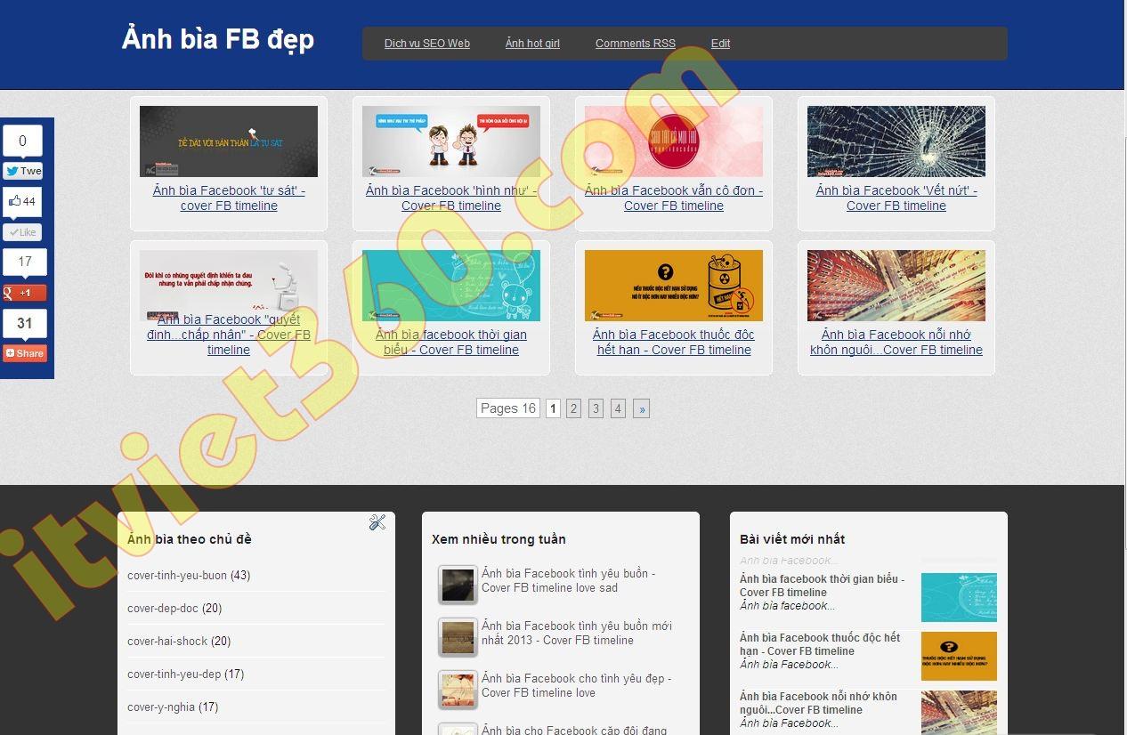 Mang may tinh, Thu thuat blogspot, Tu hoc SEO Web, Blogger Google: Share template ảnh bìa FB đẹp - mẫu Blogspot dành cho hình ảnh