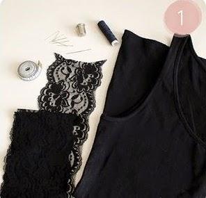 DIY cómo añadir mangas de encaje a un top