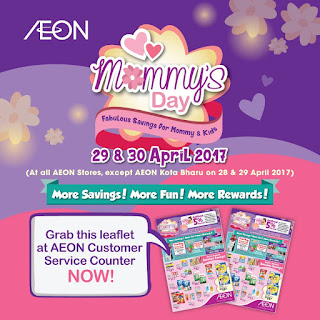 AEON Mommy's Day Baby & Kids Department Discount Saving Promo
