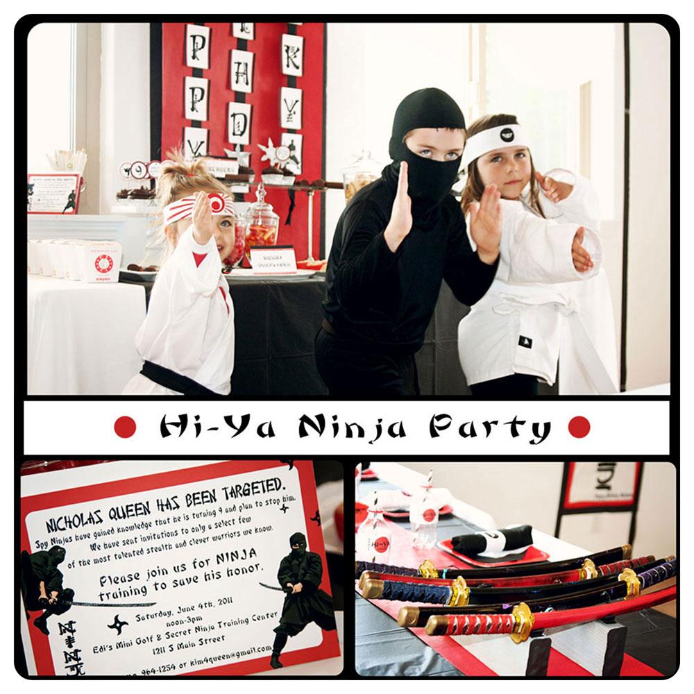 Kara's Party Ideas Hi Ya! Ninja Birthday Party!