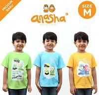 Dusdusan Kaos Anak Islami Anasha (Set of 3) - Putera ANDHIMIND