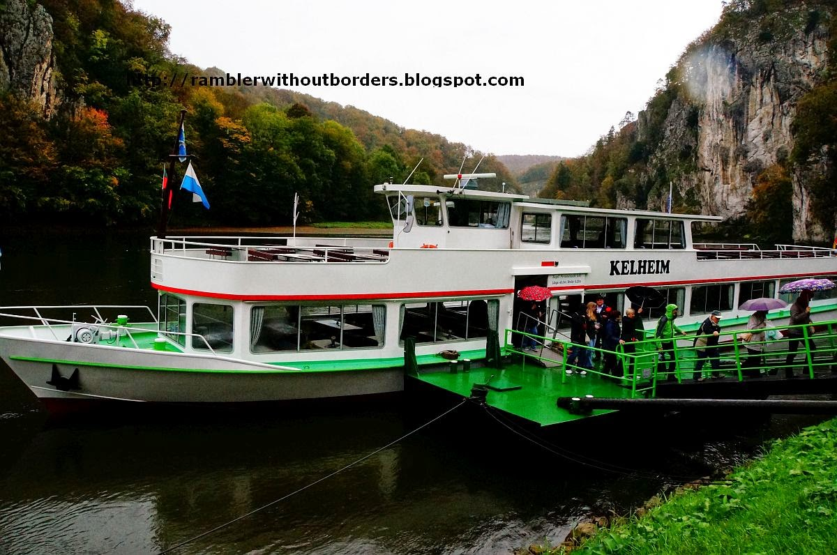 Cruise boat, Danube Gorge, Germany