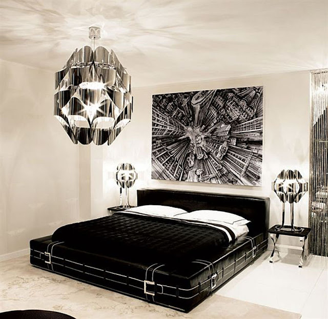 ديكور غرف نوم باللون الاسود